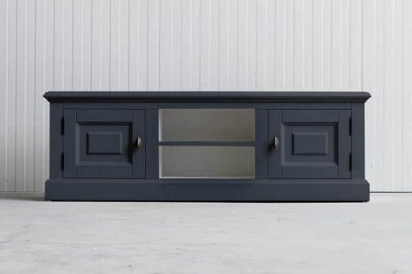 Landelijk Tv-meubel Bo 2-deuren 2-open vak Leigrijs.