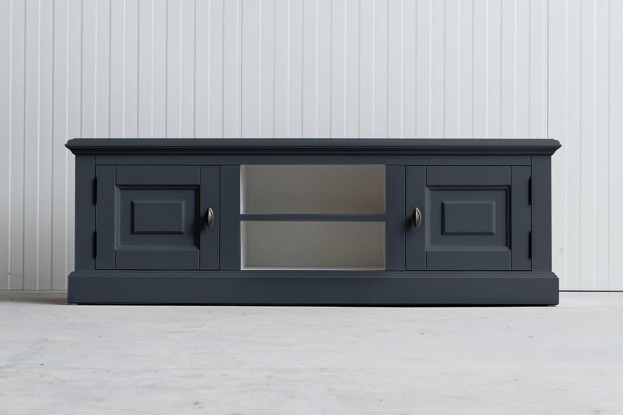 Landelijk tv-meubel Bo 2×2 leigrijs (RAL 7015)