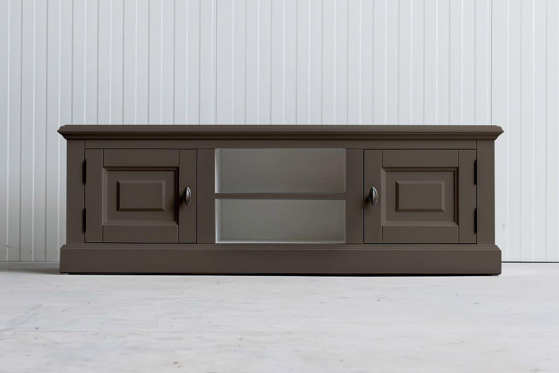Landelijk tv-meubel Bo 2×2 olijf (RAL 7006)