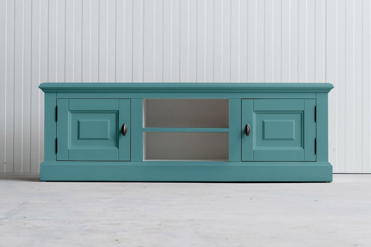 Landelijk tv-meubel Bo 2×2 pastelturquoise (RAL 6034)