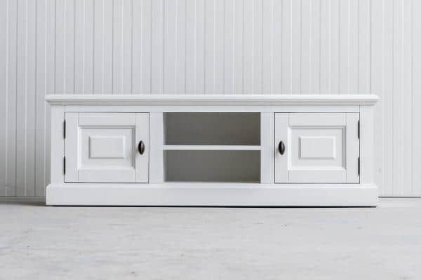 Landelijk tv-meubel Bo 2-deuren 2-open vak wit