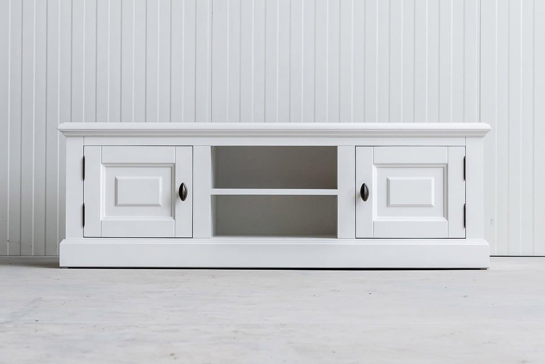 Landelijk tv-meubel Bo 2×2 wit