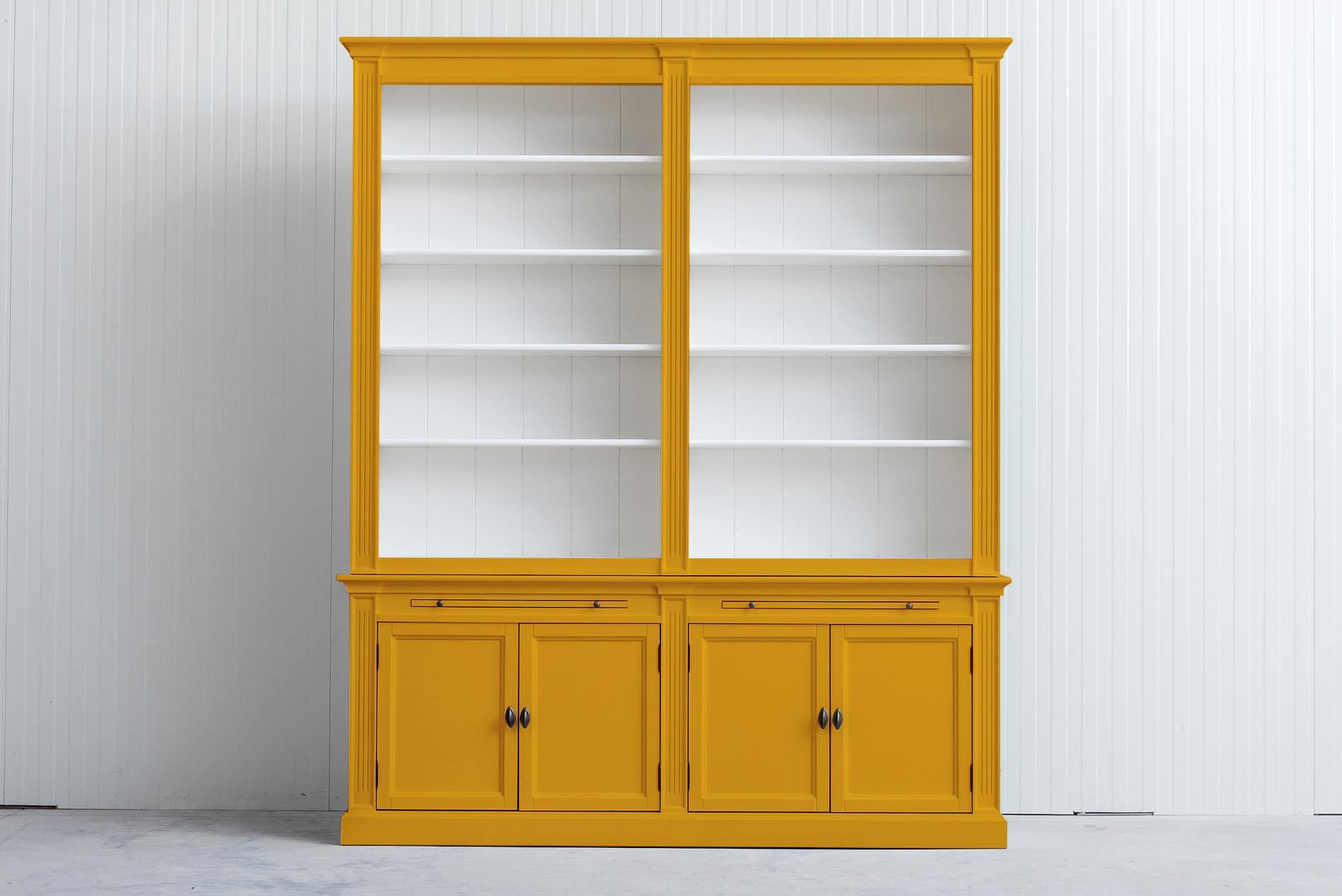 Landelijke Boekenkast Bo 2×4 – Goud geel – RAL1004