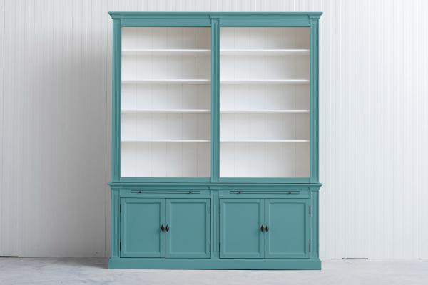 Landelijke Boekenkast Bo 2M Pastelturquoise.Ral 6034
