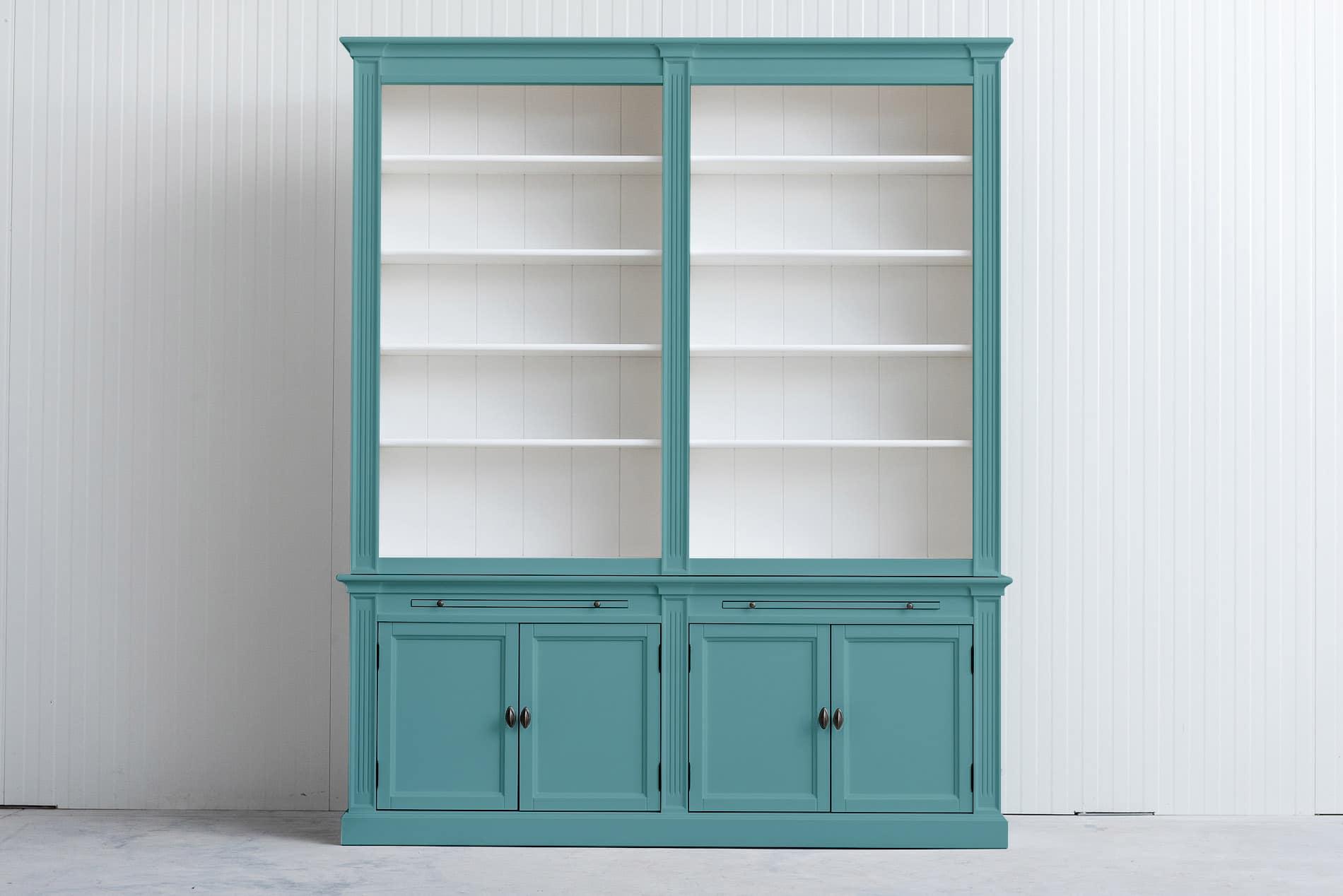 Landelijke Boekenkast Bo 2×4 – Pastelturquoise – RAL6034