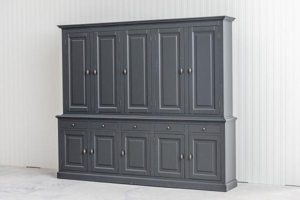 Buffetkast BO 2x5 dichte deuren 5-laden Antracit