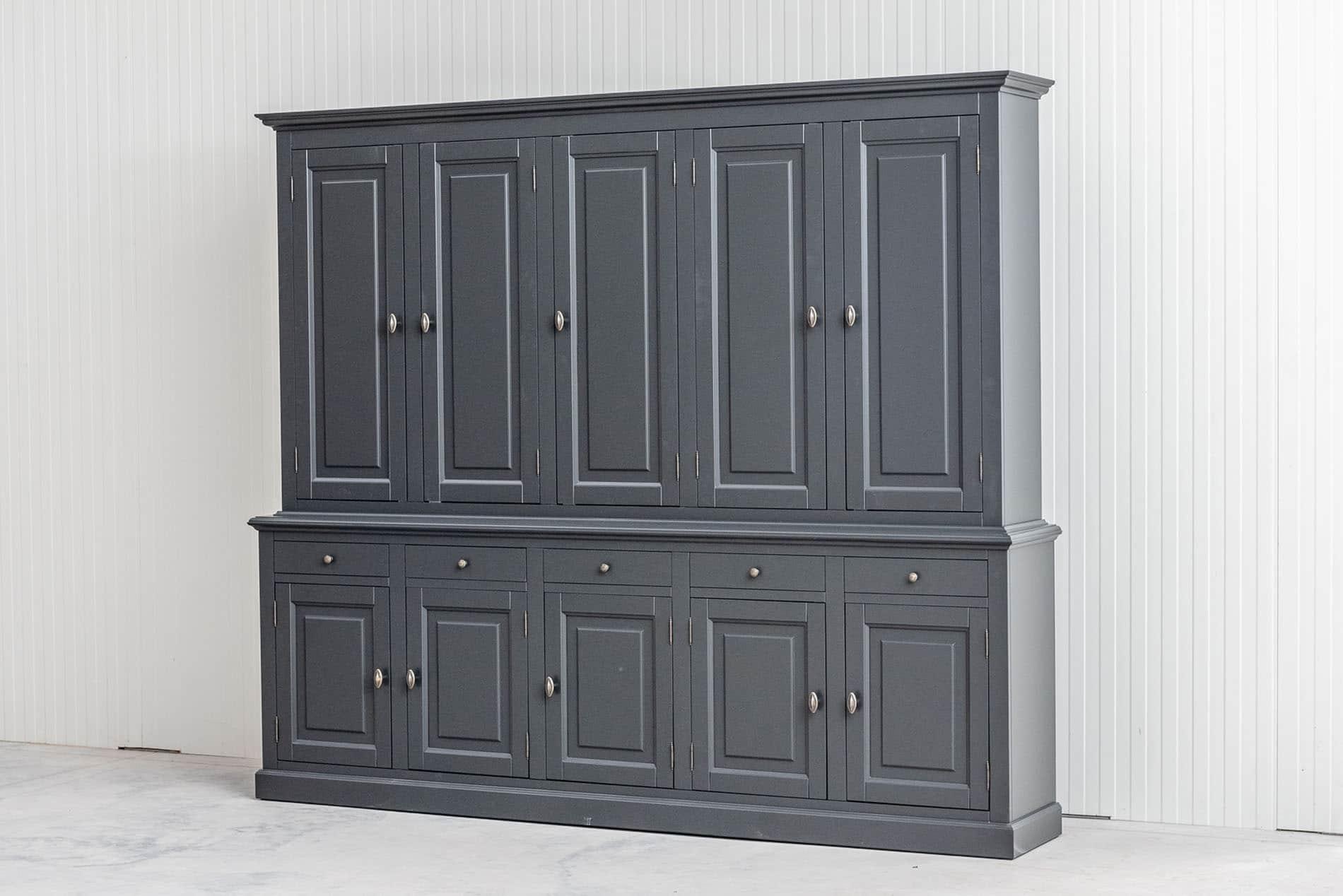 Landelijke Buffetkast BO 2×5 deuren 5-laden Kwartsgrijs