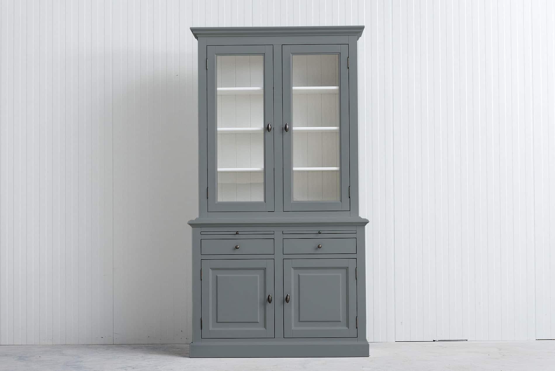 Landelijke Buffetkast Bo 2×2 deuren – 2 laden – Grijs – RAL7042