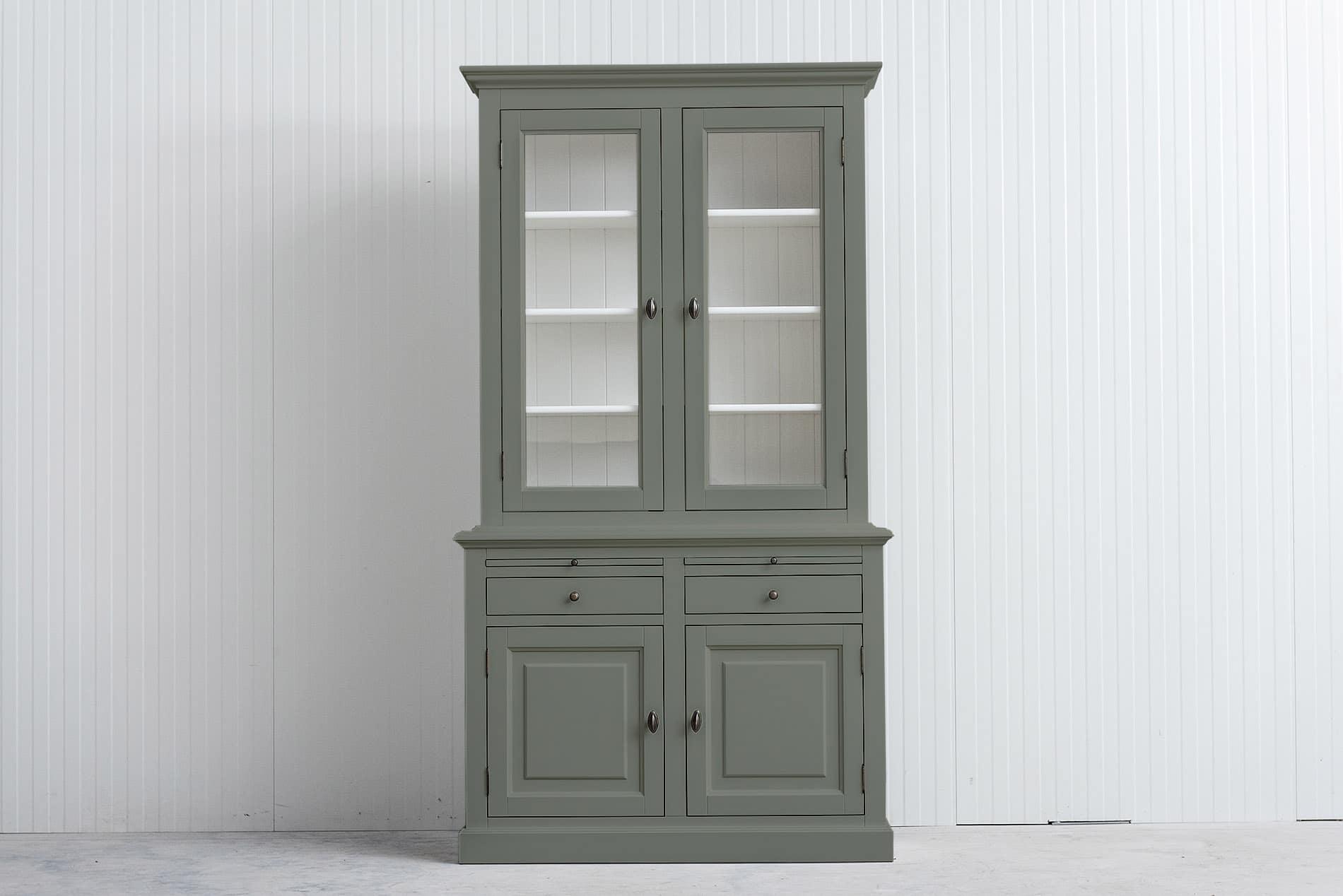 Landelijke Buffetkast Bo 2×2-deuren 2-laden Cementgrijs