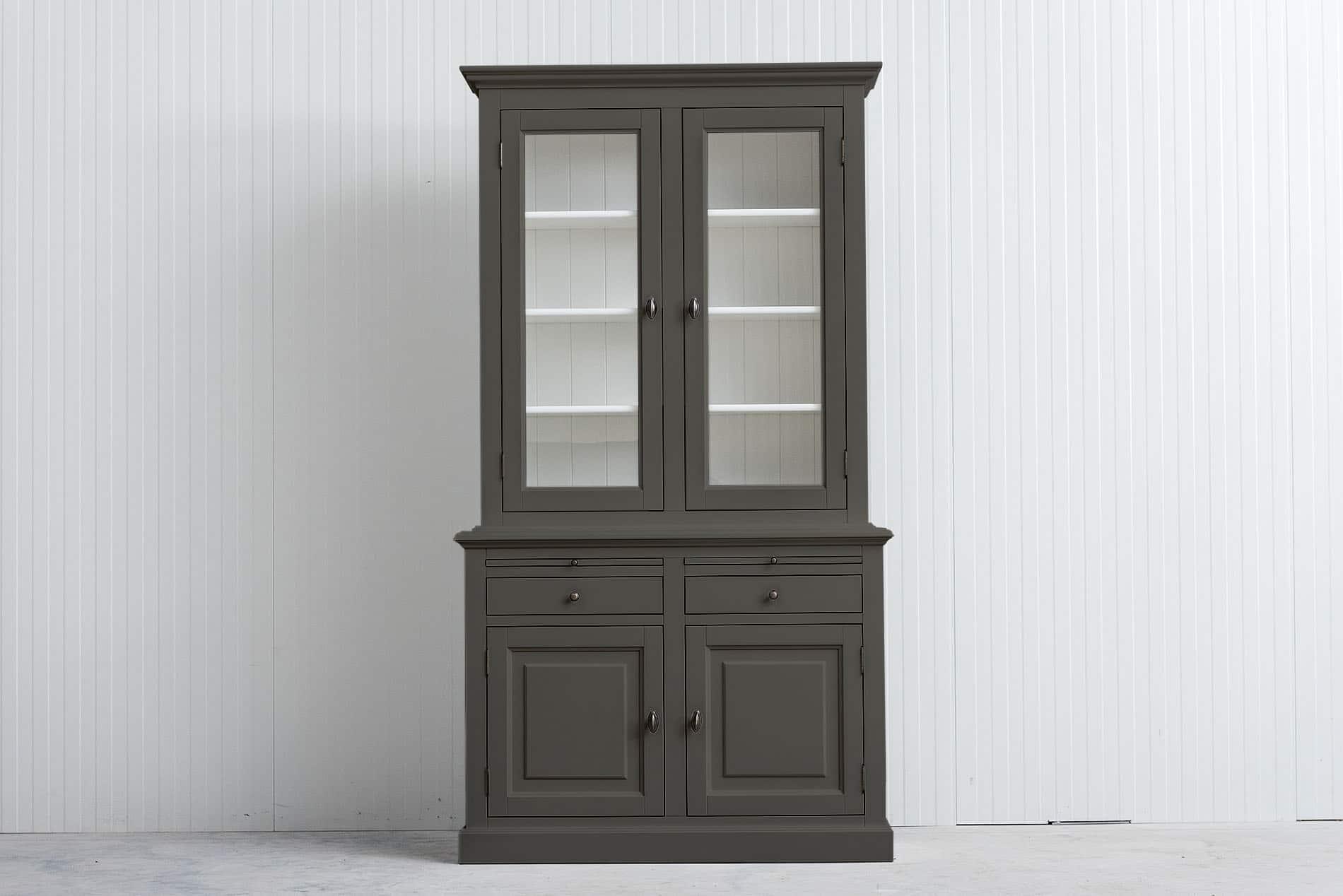 Landelijke Buffetkast Bo 2×2 deuren – 2 laden – Kwartsgrijs – RAL7039