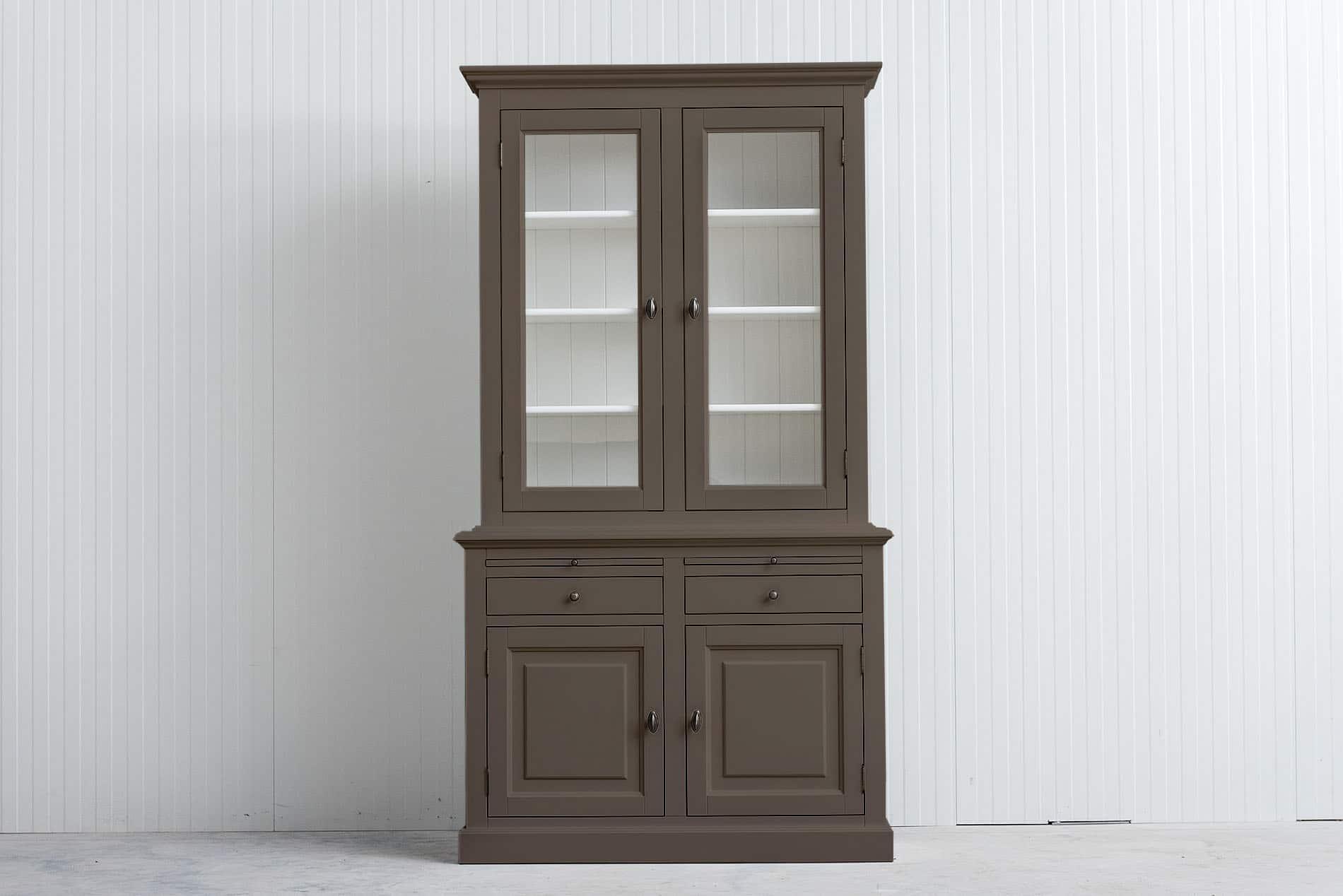 Landelijke Buffetkast Bo 2×2 deuren – 2 laden – Olijf – RAL7006