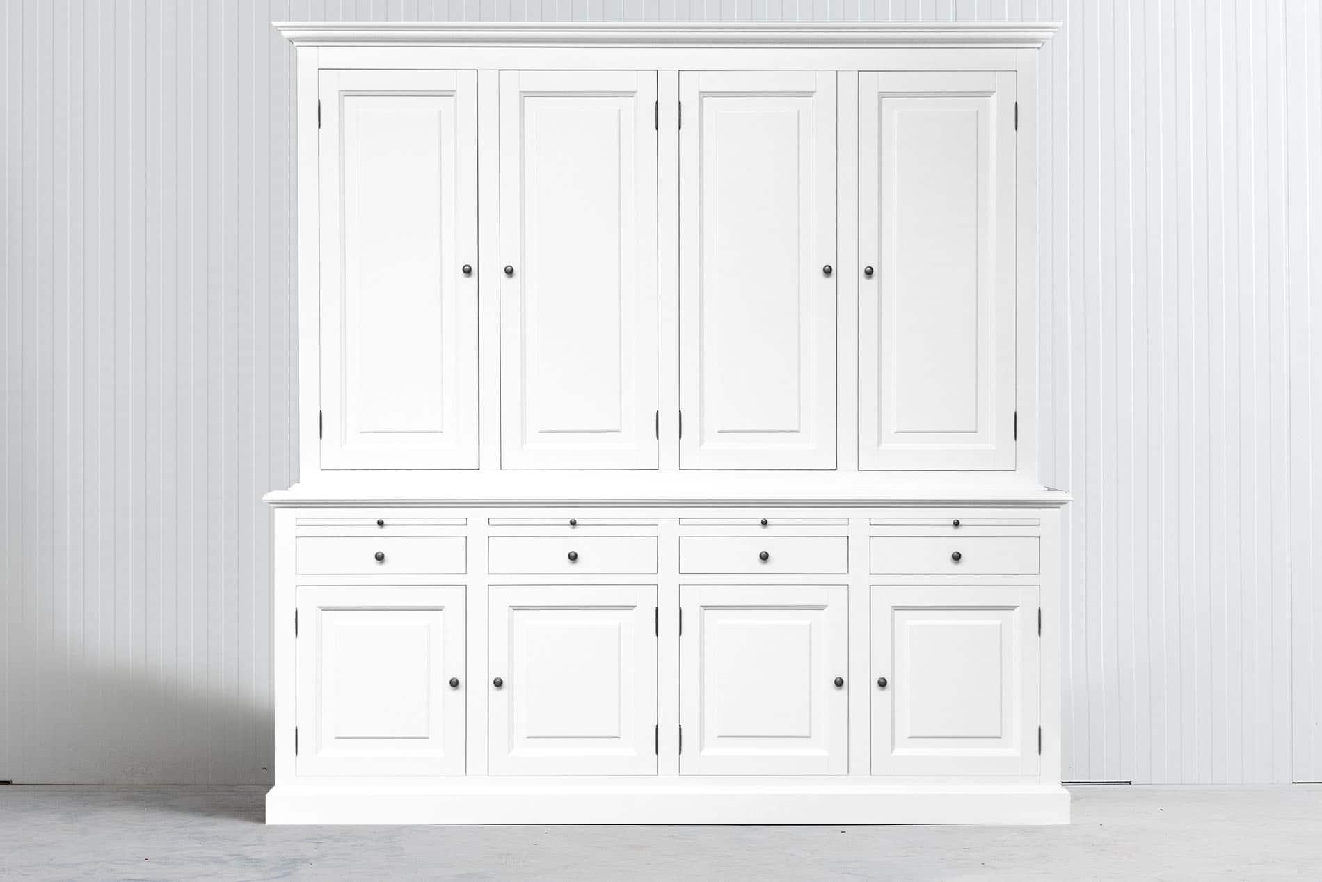 Landelijke Buffetkast Bo 2×4 Wit met dichte deuren – Wit