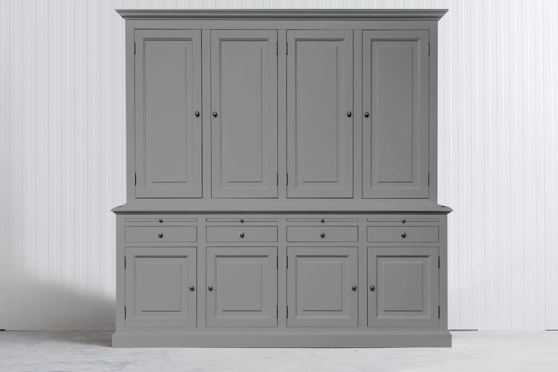 Landelijke Buffetkast Bo 2×4 met dichte deuren – Grijs – RAL8e9291