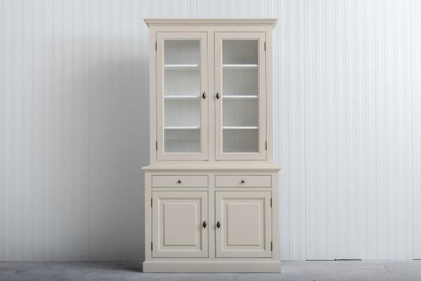Buffetkast Bo 2x2-deuren 2-laden Crèmewit.