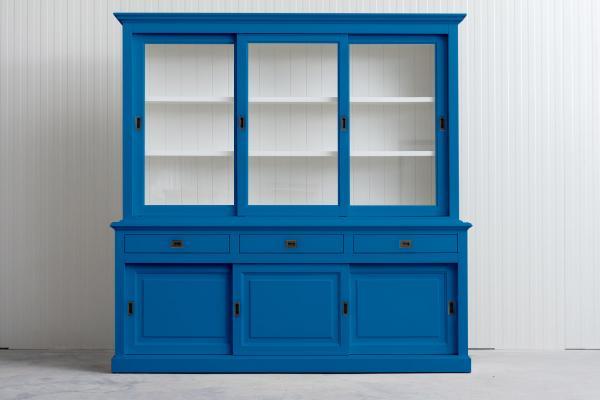 Landelijke Buffetkast Bo met schuifdeur hemelsblauw 230 cm