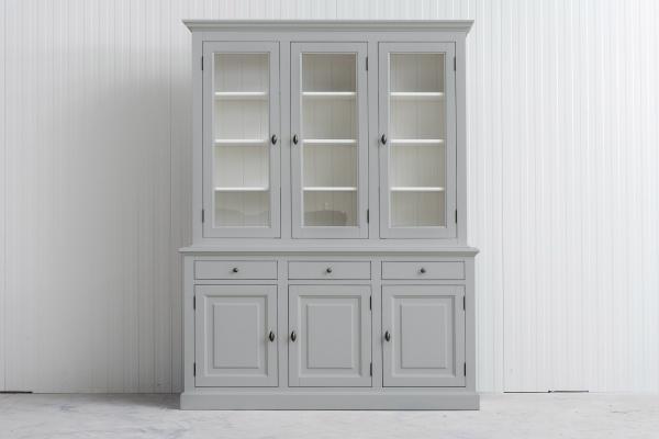 Landelijke Buffetkast Bo 2x3-deuren 3-laden Licht- grijs