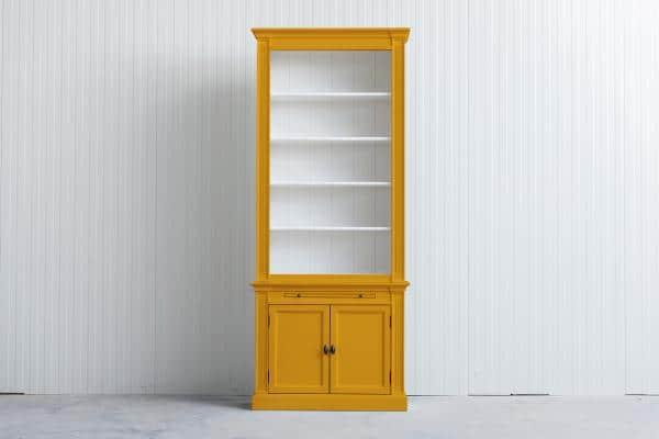 Landelijke Boekenkast Bo Goudgeel 1M.