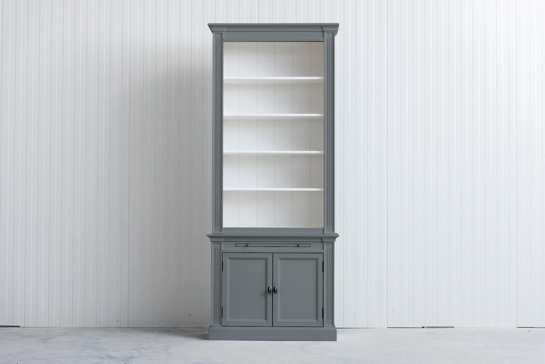 Landelijke boekenkast 1 m – Grijs – RAL7042