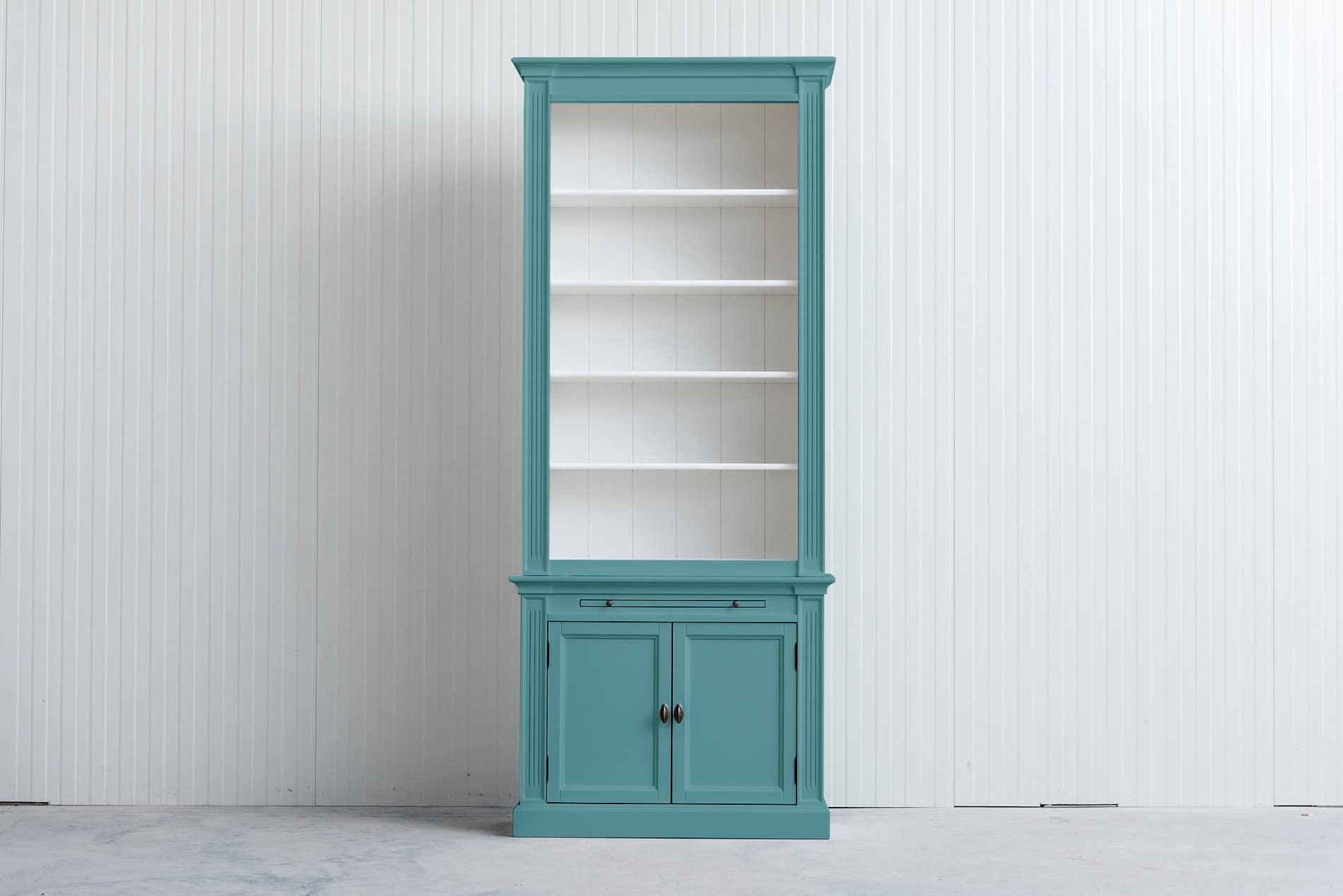 Landelijke boekenkast 1 m – Pastelturquoise – RAL6034