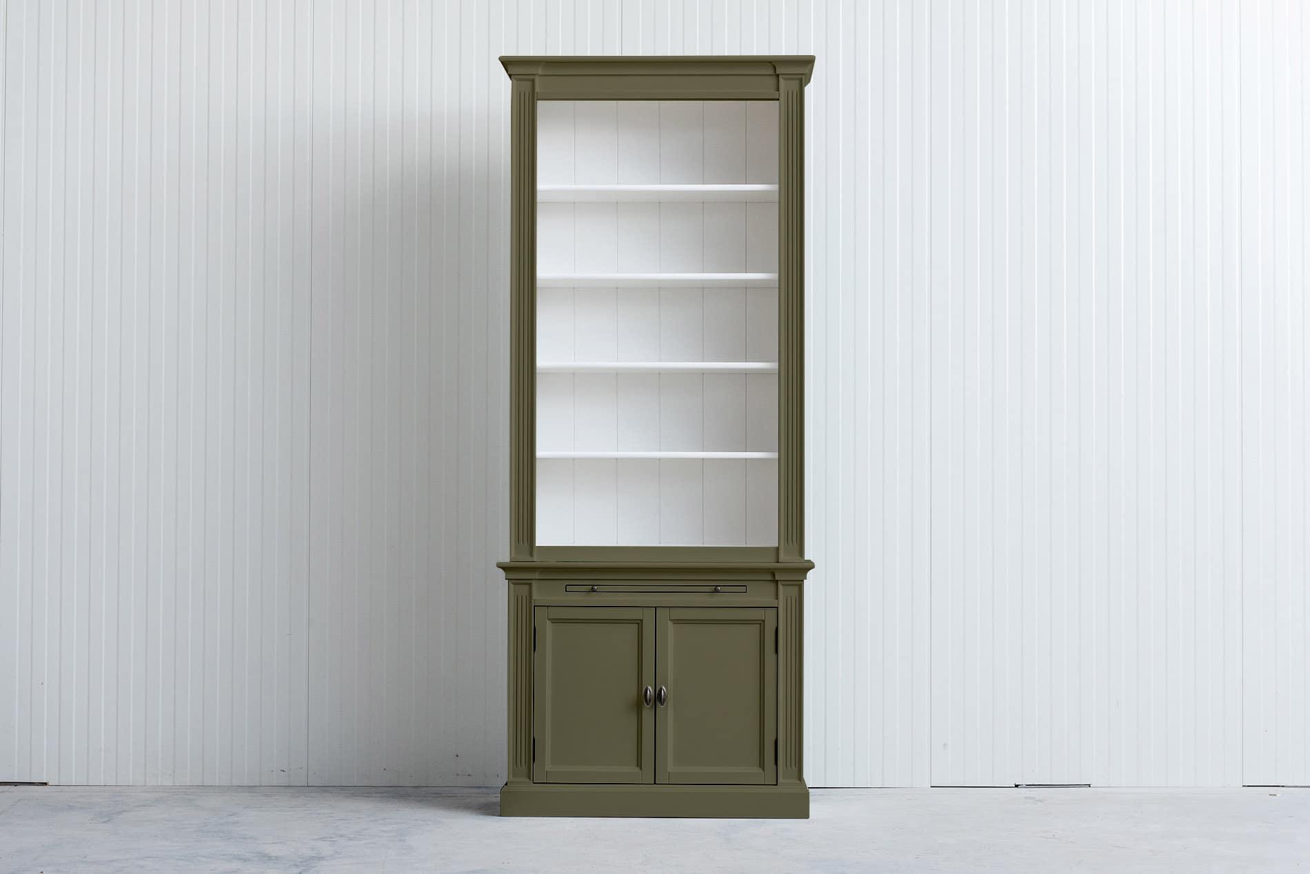 Landelijke boekenkast 1 m – Rietgroen – RAL6013