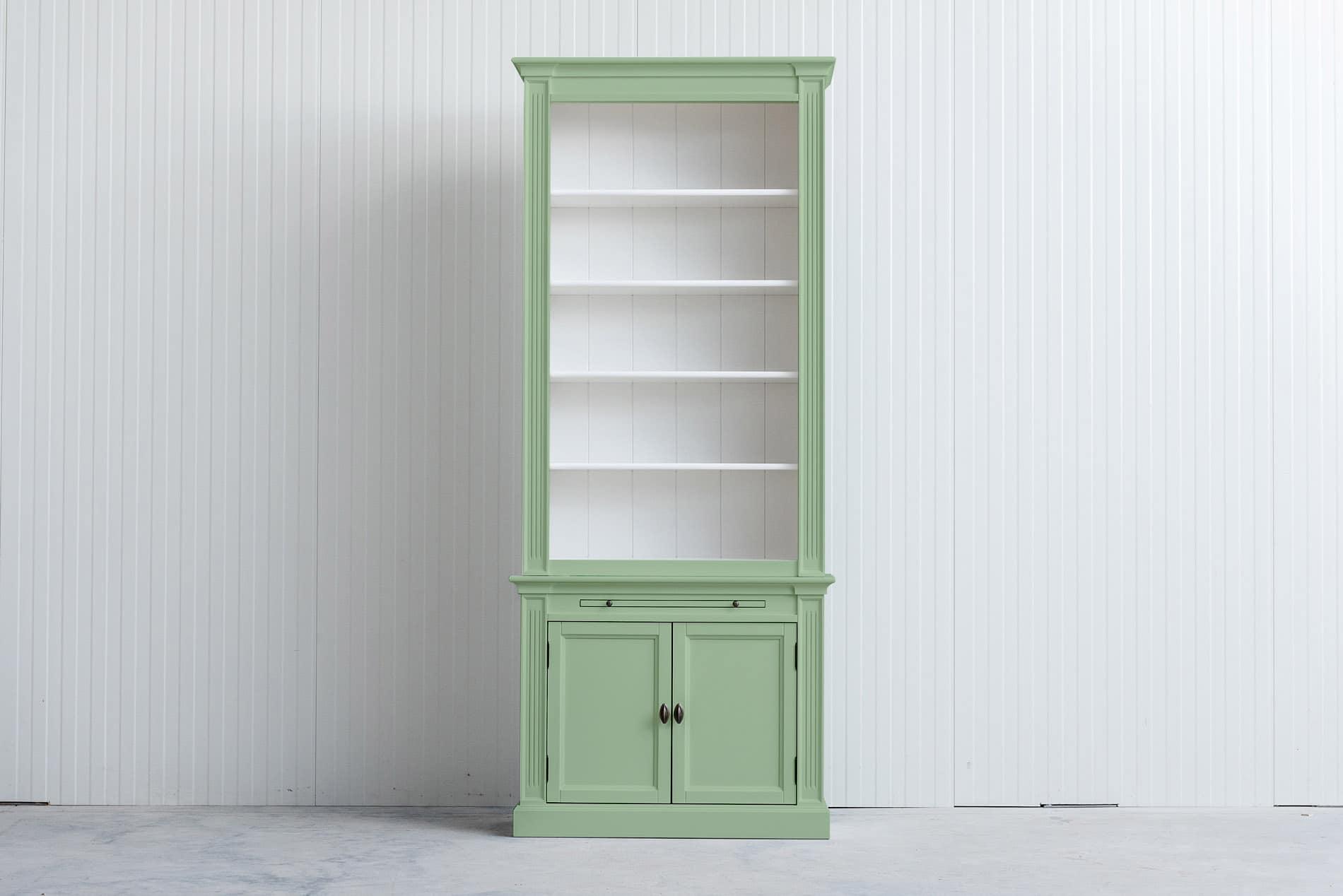 Landelijke boekenkast 1 m – Witgroen – RAL6019
