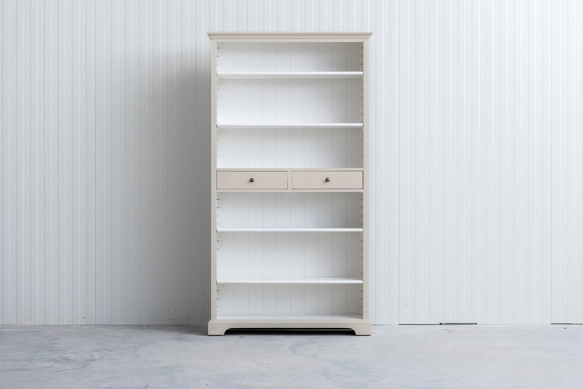 Landelijke boekenkast 1m – Crèmewit – RAL9001