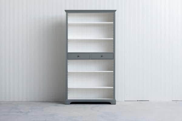 Landelijke boekenkast Bo 2-laden Grijs.