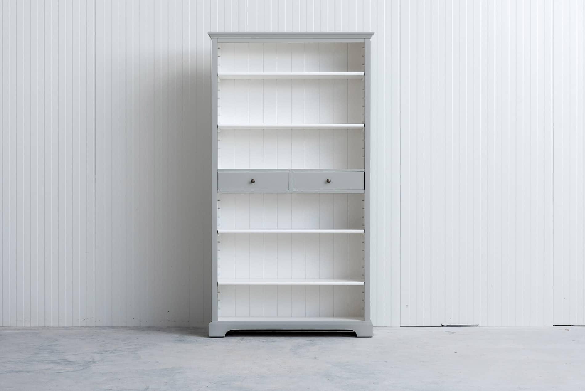Landelijke boekenkast 1m – Lichtgrijs – RAL7035