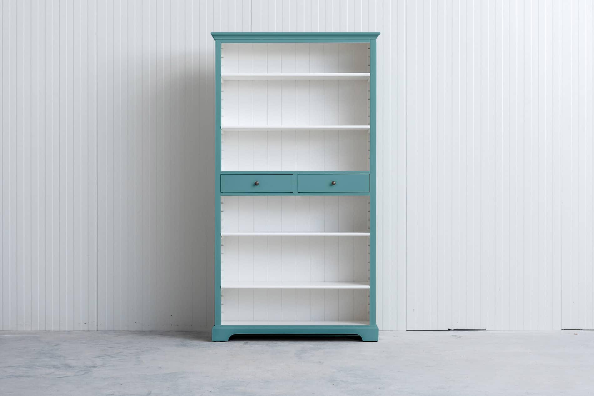 Landelijke boekenkast 1m – Pastelturquoise – RAL6034