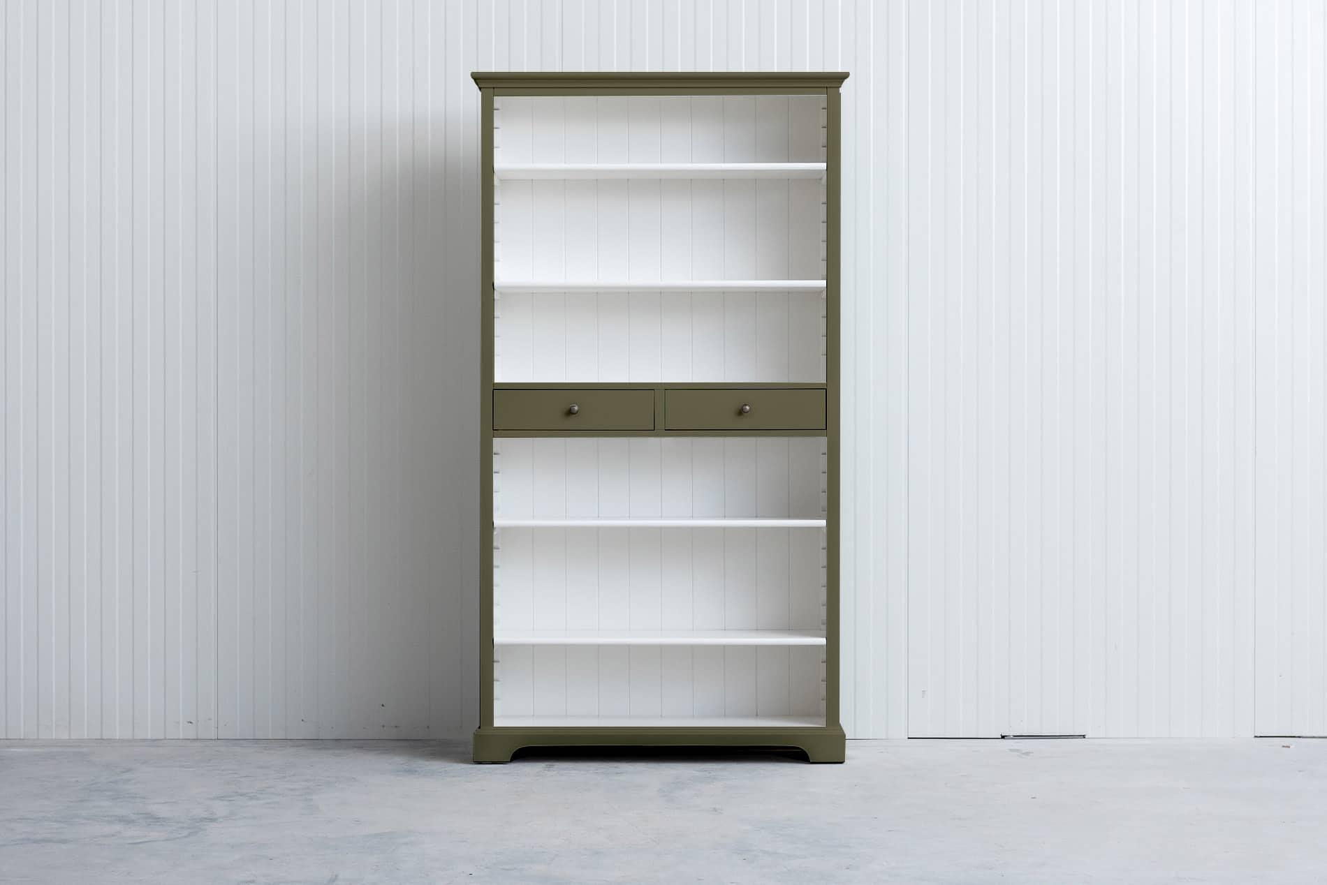 Landelijke boekenkast 1m – Rietgroen – RAL6013