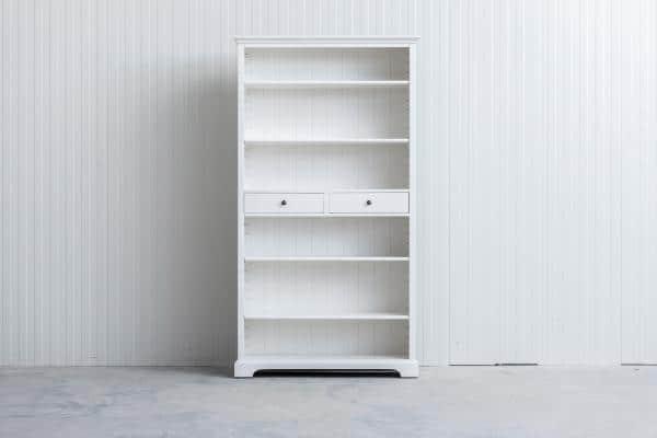 Landelijke Boekenkast Bo 2-laden Wit .