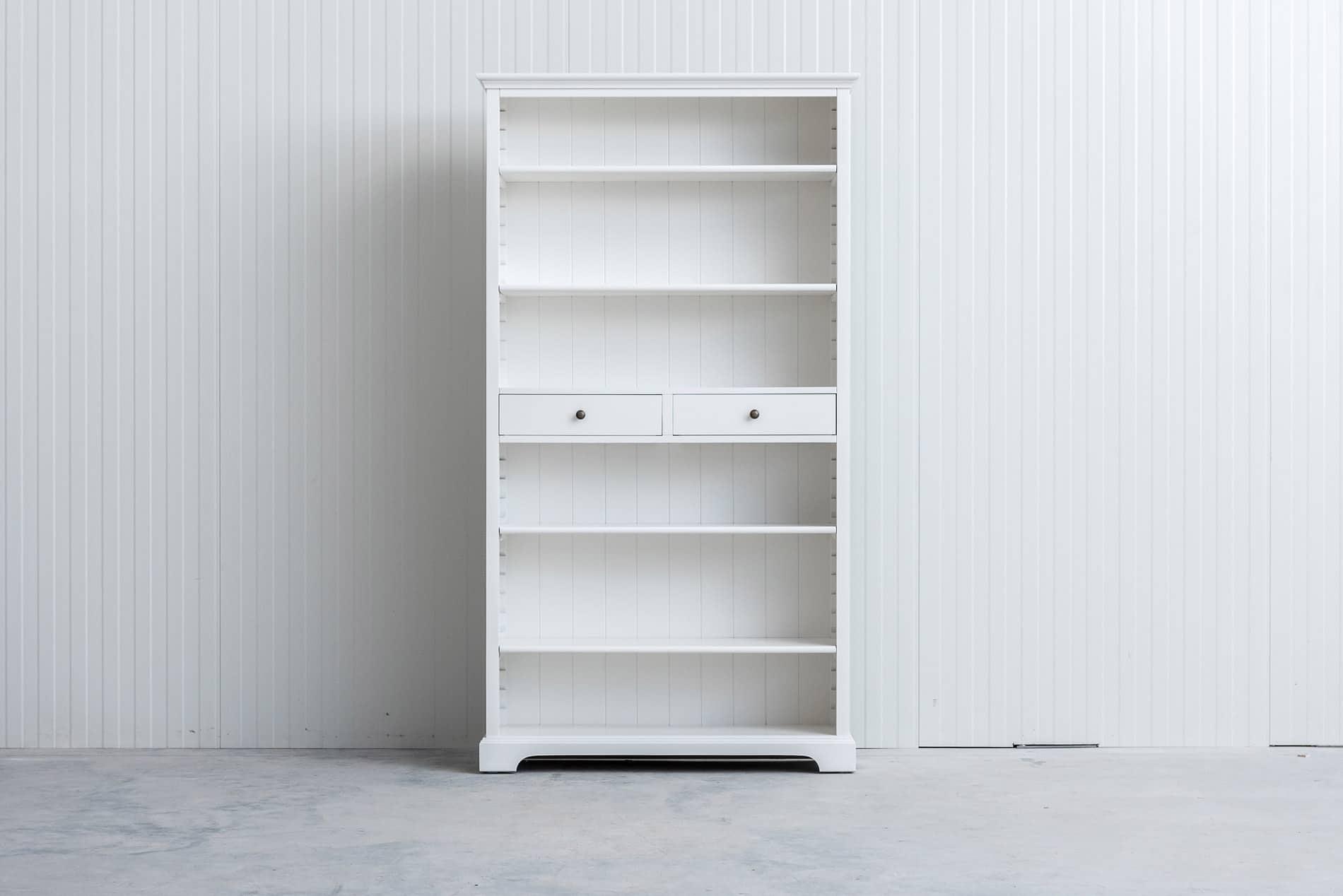 Landelijke boekenkast 1m – Wit