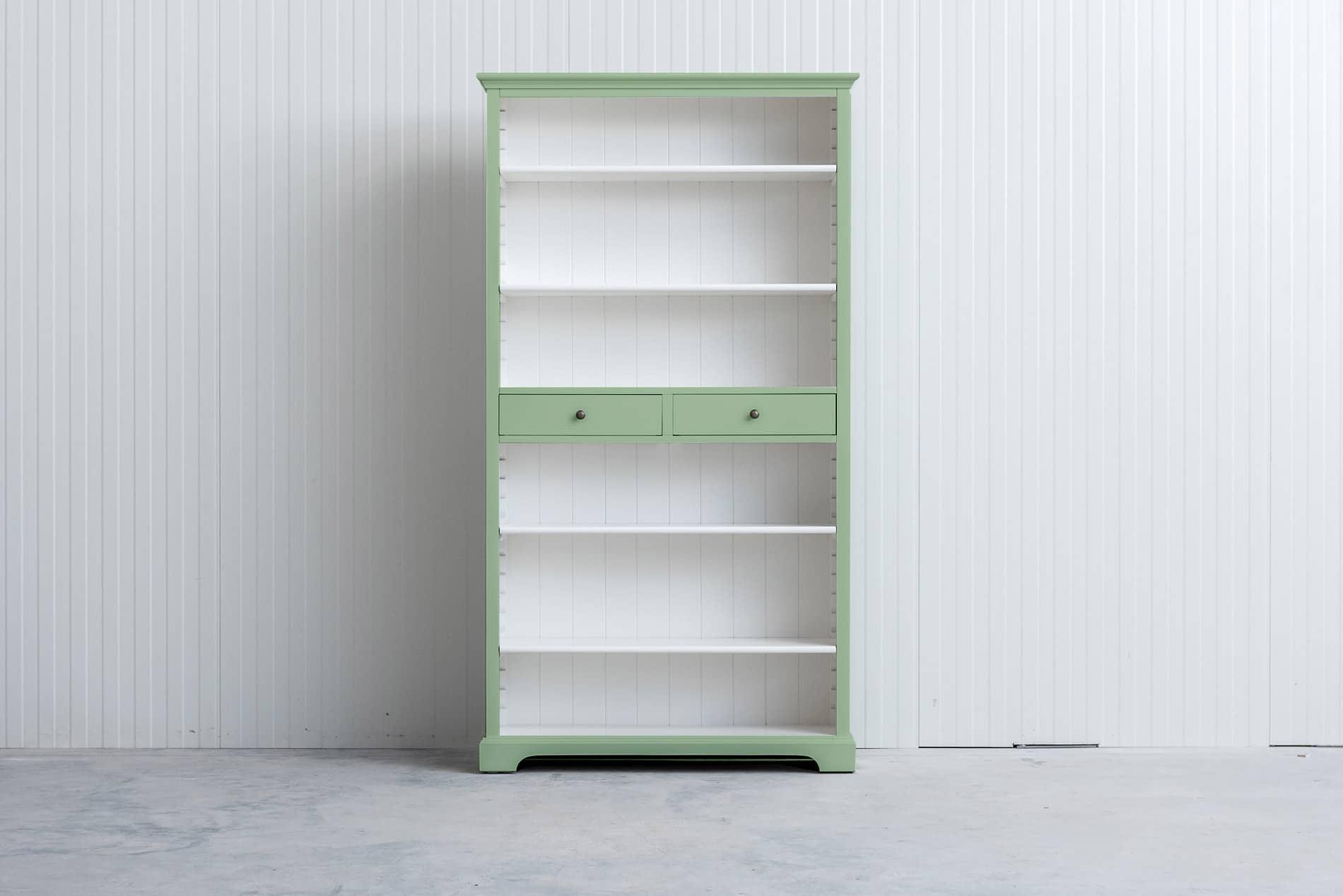 Landelijke boekenkast 1m – Witgroen – RAL6019