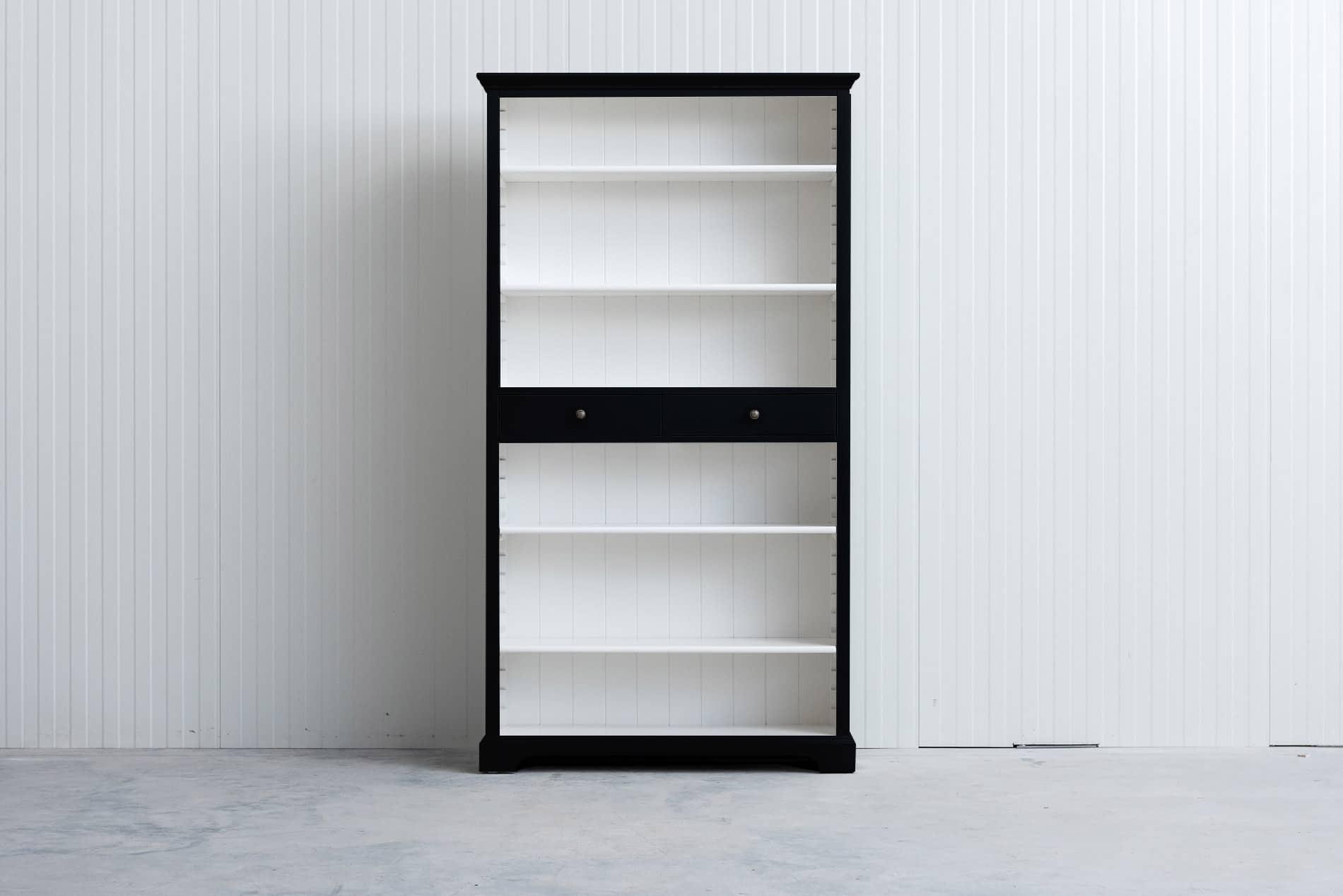 Landelijke boekenkast 1m – Zwart