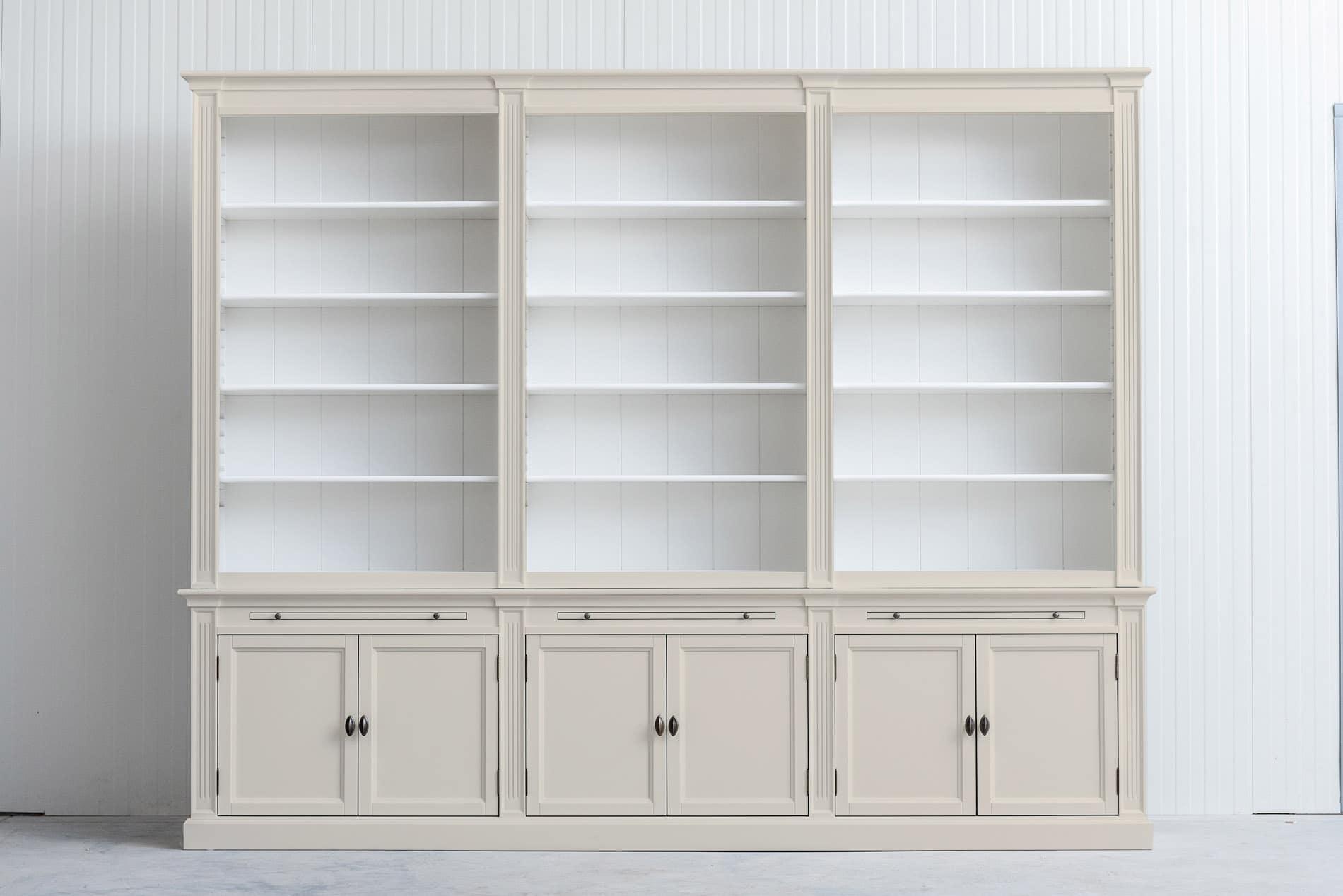 Landelijke boekenkast Bo 3×6 – Crème wit – RAL9001