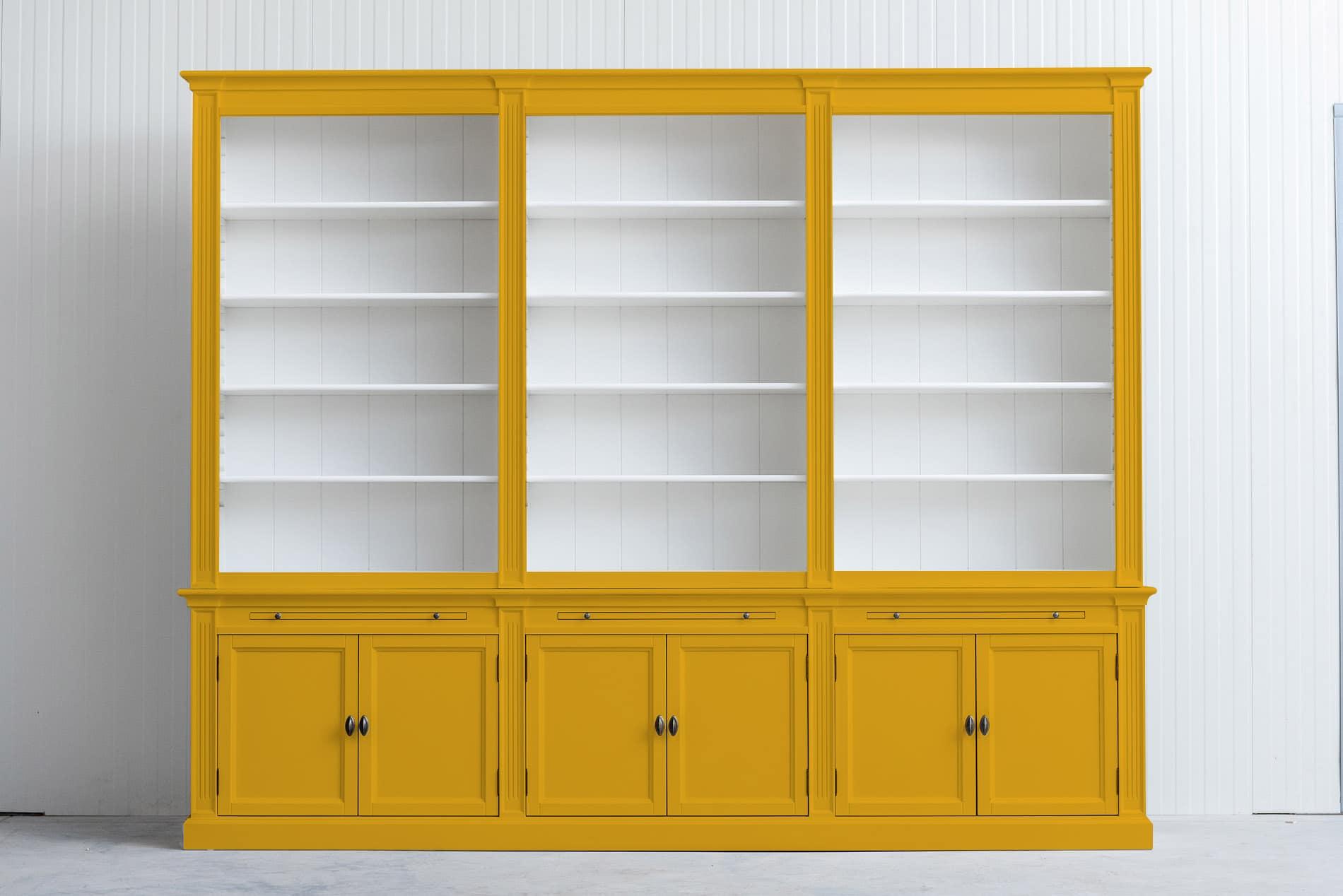 Landelijke boekenkast Bo 3×6 – Goud geel – RAL 1004