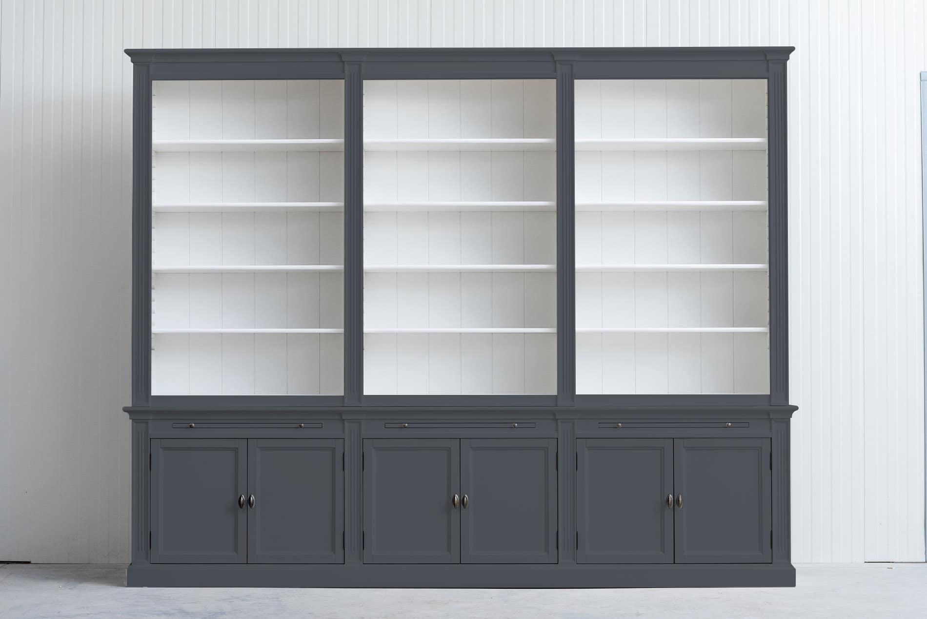 Landelijke boekenkast Bo 3×6 – Grafietgrijs – RAL7024