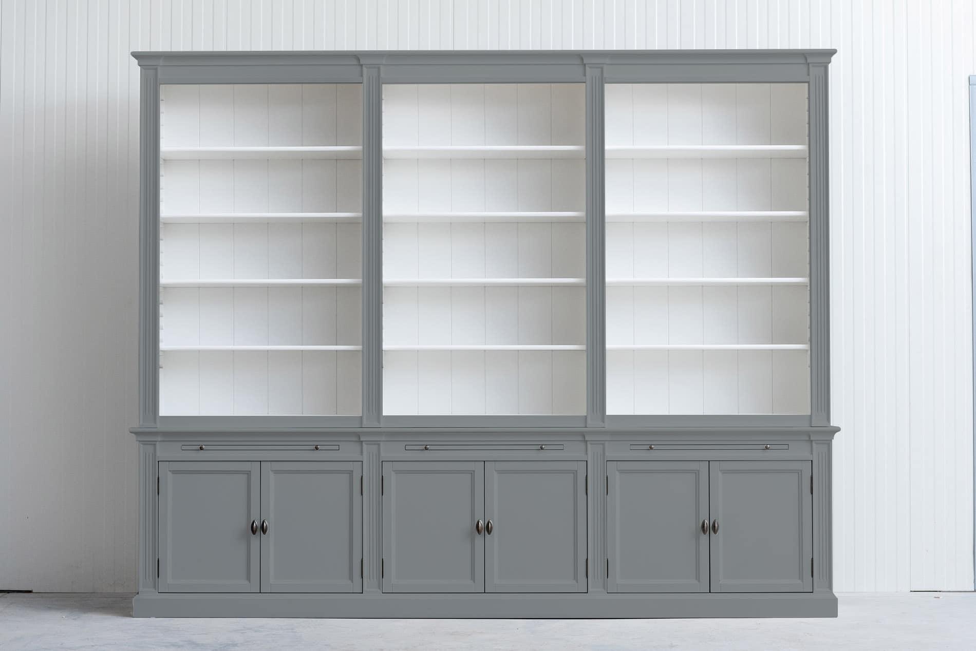 Landelijke boekenkast Bo 3×6 – Grijs – RAL7042