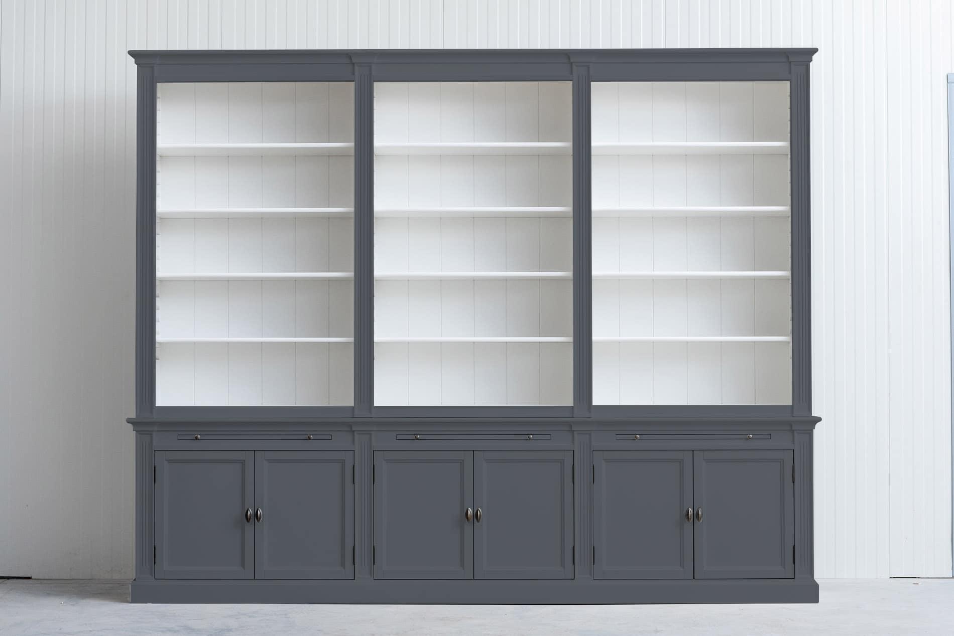 Landelijke boekenkast Bo 3×6 – Leigrijs – RAL7015