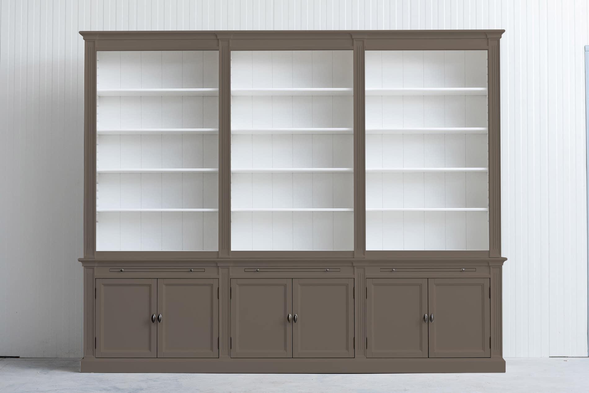 Landelijke boekenkast Bo 3×6 – Olijf – RAL7006