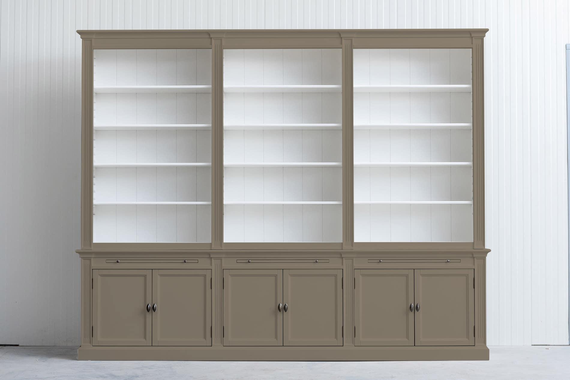 Landelijke boekenkast Bo 3×6 – Parelmoer grijs – RAL1035