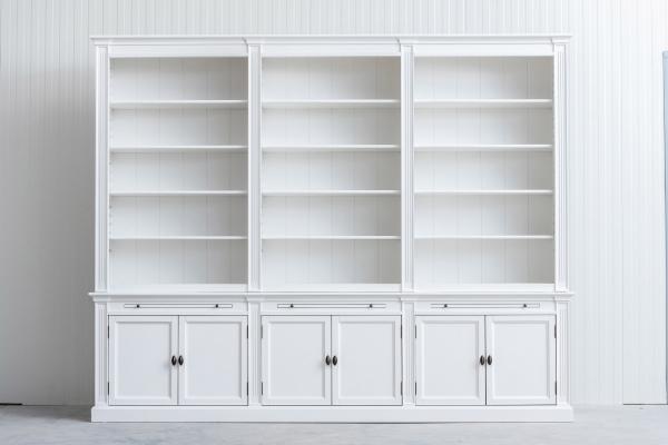 Landelijke Boekenkast Bo 3M Wit. Ral 9010