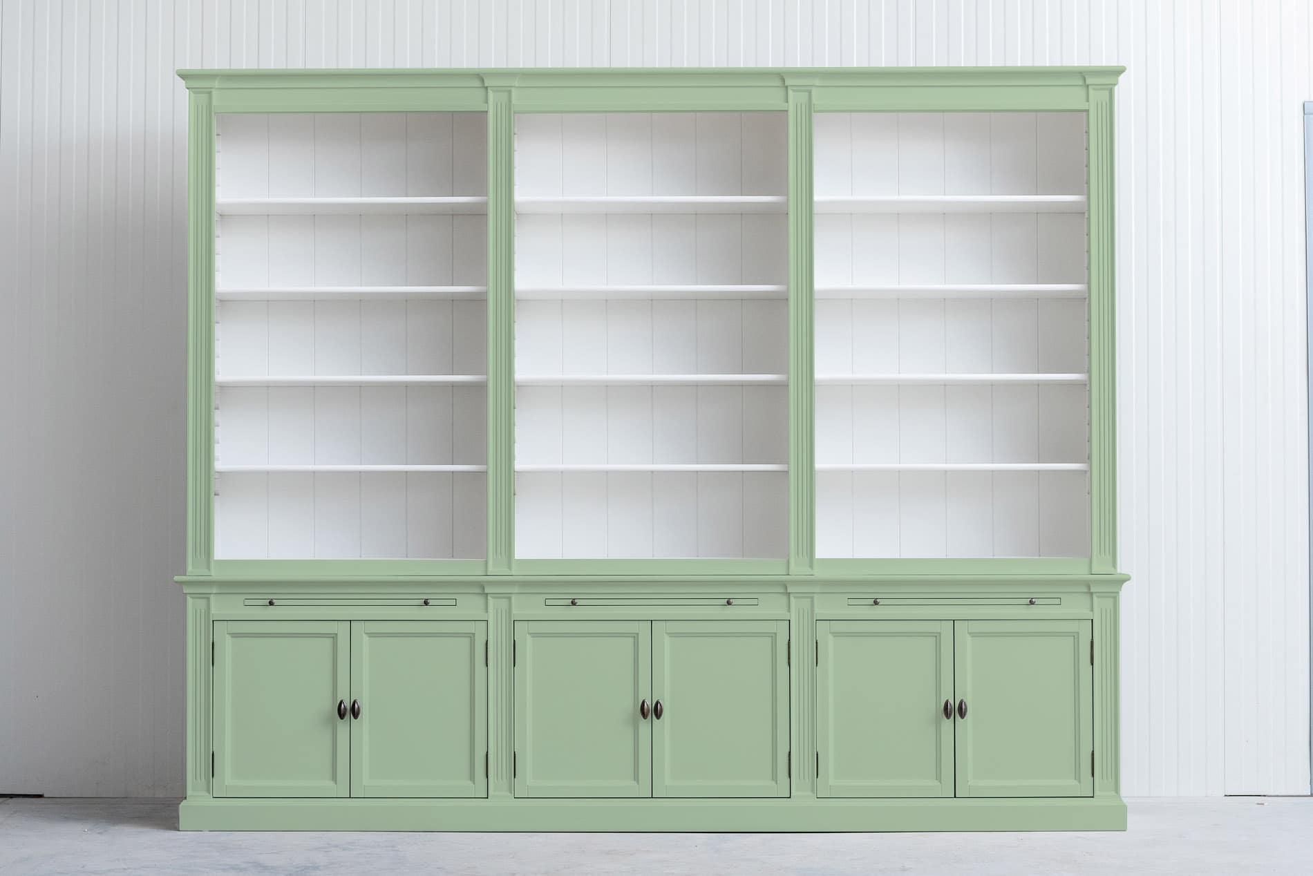 Landelijke boekenkast Bo 3×6 – Witgroen – RAL6019