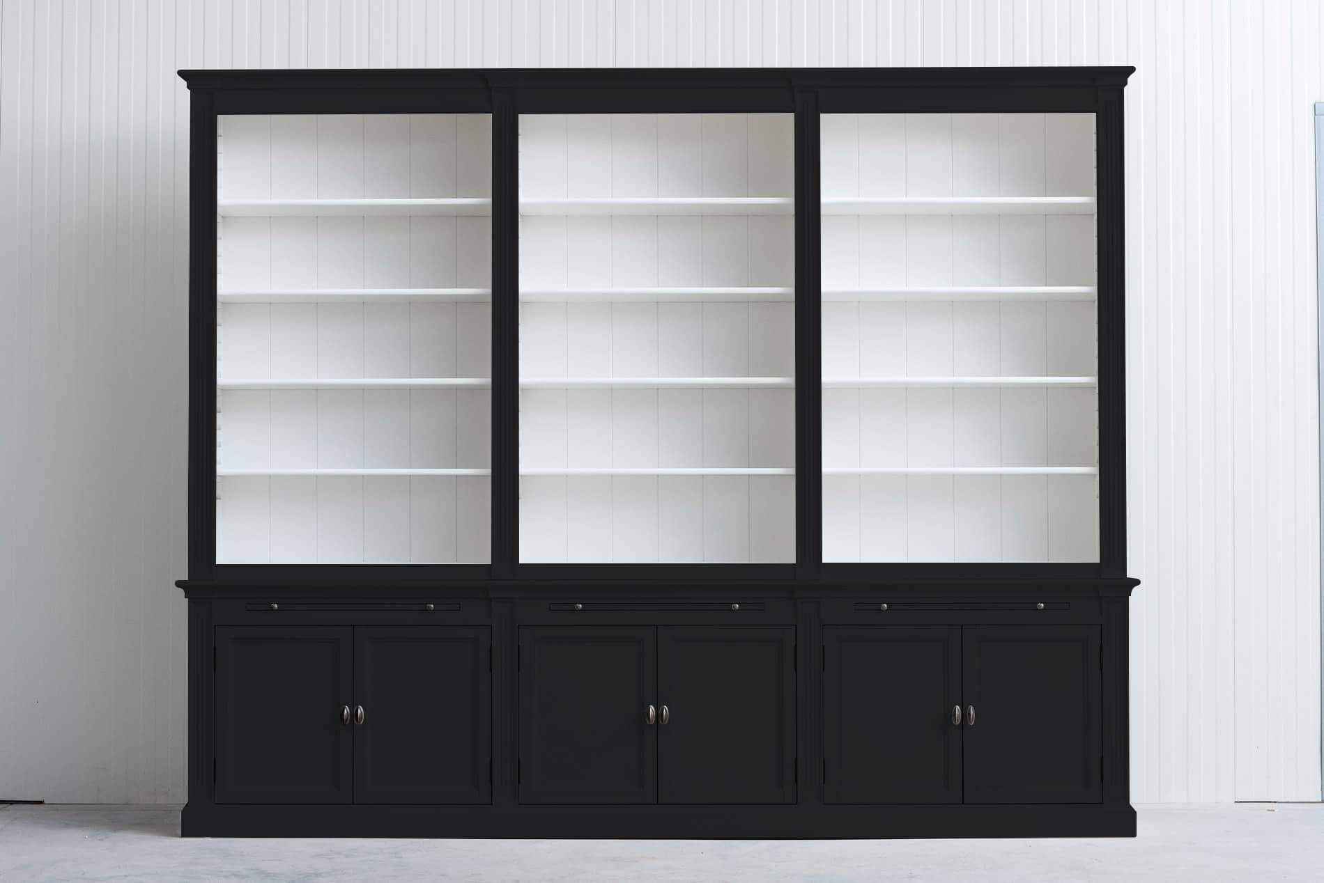 Landelijke boekenkast Bo 3×6 – Zwart