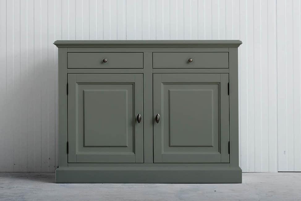 Landelijk dressoir Bo 2-deuren 2-laden Cementgrijs