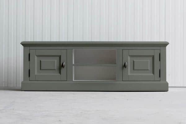 Landelijk Tv-meubel Bo 2-deuren 2-open vak Cementgrijs