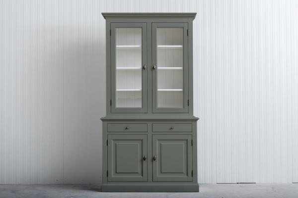 Buffetkast Bo 2x2-deuren 2-laden Cementgrijs