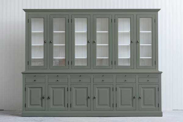 Landelijke Buffetkast Bo 2x6-deuren 6-laden Cementgrijs