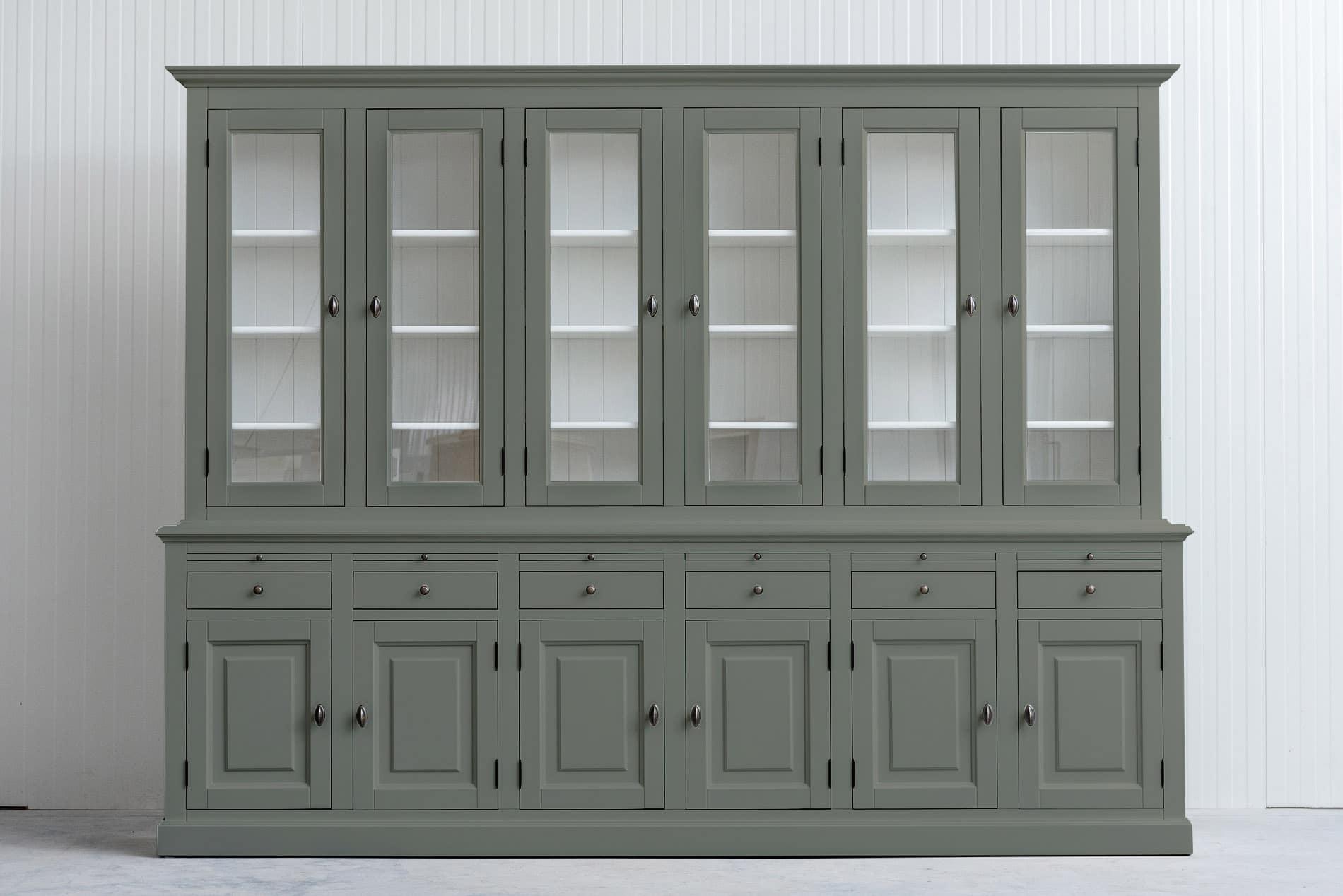 Landelijke Buffetkast Bo 2×6-deuren 6-laden Zwart