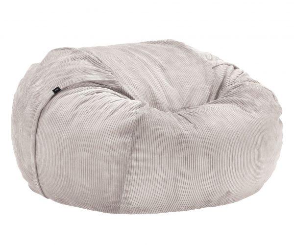 Beanbag large - Cord velours platinum